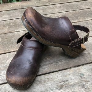 Dansko clogs with back strap